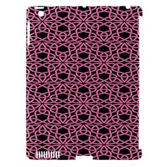 Triangle Knot Pink And Black Fabric Apple Ipad 3/4 Hardshell Case (compatible With Smart Cover)