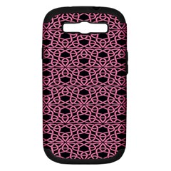 Triangle Knot Pink And Black Fabric Samsung Galaxy S Iii Hardshell Case (pc+silicone)