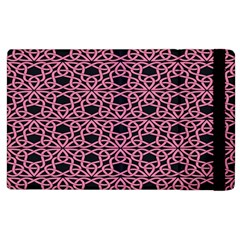 Triangle Knot Pink And Black Fabric Apple Ipad 3/4 Flip Case
