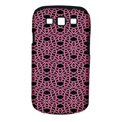Triangle Knot Pink And Black Fabric Samsung Galaxy S Iii Classic Hardshell Case (pc+silicone)