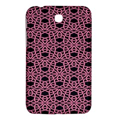 Triangle Knot Pink And Black Fabric Samsung Galaxy Tab 3 (7 ) P3200 Hardshell Case