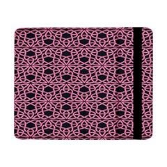 Triangle Knot Pink And Black Fabric Samsung Galaxy Tab Pro 8 4  Flip Case
