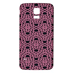 Triangle Knot Pink And Black Fabric Samsung Galaxy S5 Back Case (white)