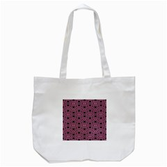 Triangle Knot Pink And Black Fabric Tote Bag (white)