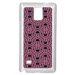 Triangle Knot Pink And Black Fabric Samsung Galaxy Note 4 Case (white)