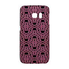 Triangle Knot Pink And Black Fabric Galaxy S6 Edge