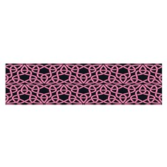 Triangle Knot Pink And Black Fabric Satin Scarf (oblong)