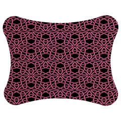Triangle Knot Pink And Black Fabric Jigsaw Puzzle Photo Stand (bow)