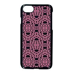Triangle Knot Pink And Black Fabric Apple Iphone 7 Seamless Case (black)