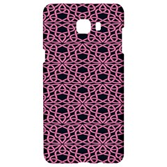 Triangle Knot Pink And Black Fabric Samsung C9 Pro Hardshell Case