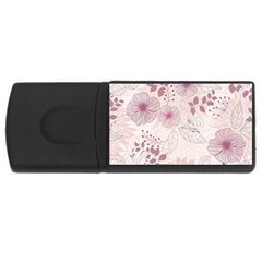 Leaves Pattern Rectangular Usb Flash Drive