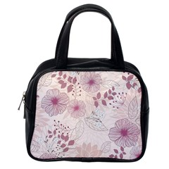 Leaves Pattern Classic Handbags (one Side) by BangZart