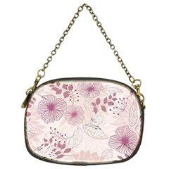 Leaves Pattern Chain Purses (one Side)