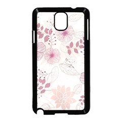 Leaves Pattern Samsung Galaxy Note 3 Neo Hardshell Case (black) by BangZart