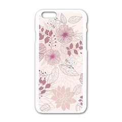 Leaves Pattern Apple Iphone 6/6s White Enamel Case by BangZart