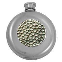 Ocean Pattern Round Hip Flask (5 Oz)