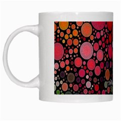 Circle Abstract White Mugs