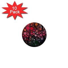 Circle Abstract 1  Mini Buttons (10 Pack)