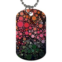 Circle Abstract Dog Tag (one Side)