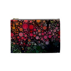 Circle Abstract Cosmetic Bag (medium)
