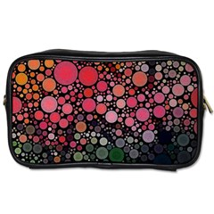Circle Abstract Toiletries Bags 2 Side