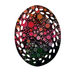 Circle Abstract Oval Filigree Ornament (two Sides)