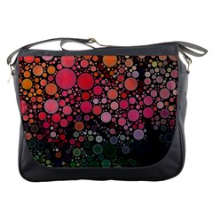 Circle Abstract Messenger Bags by BangZart