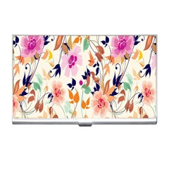 Vector Floral Art Business Card Holders