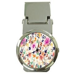 Vector Floral Art Money Clip Watches
