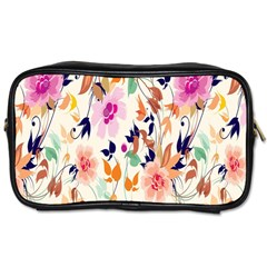 Vector Floral Art Toiletries Bags 2 Side
