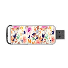 Vector Floral Art Portable Usb Flash (two Sides)