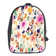 Vector Floral Art School Bags (xl)  by BangZart