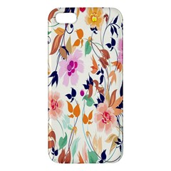 Vector Floral Art Apple Iphone 5 Premium Hardshell Case