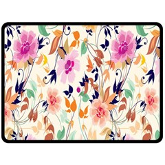 Vector Floral Art Double Sided Fleece Blanket (large)  by BangZart