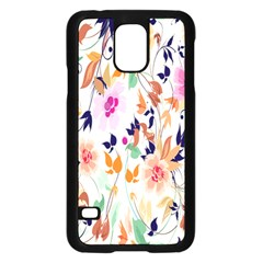 Vector Floral Art Samsung Galaxy S5 Case (black)