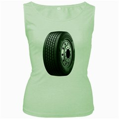 Tire Women s Green Tank Top