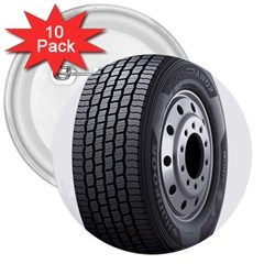 Tire 3  Buttons (10 Pack)