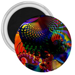 Colored Fractal 3  Magnets by BangZart