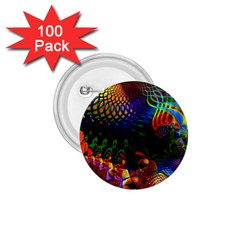 Colored Fractal 1 75  Buttons (100 Pack)