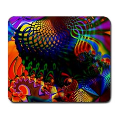 Colored Fractal Large Mousepads