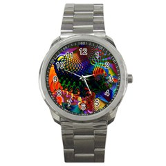 Colored Fractal Sport Metal Watch