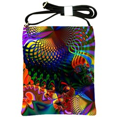 Colored Fractal Shoulder Sling Bags