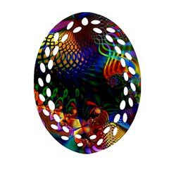 Colored Fractal Ornament (oval Filigree)
