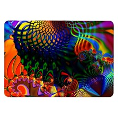 Colored Fractal Samsung Galaxy Tab 8 9  P7300 Flip Case