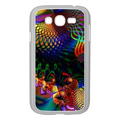 Colored Fractal Samsung Galaxy Grand Duos I9082 Case (white)