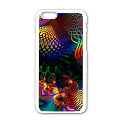 Colored Fractal Apple Iphone 6/6s White Enamel Case