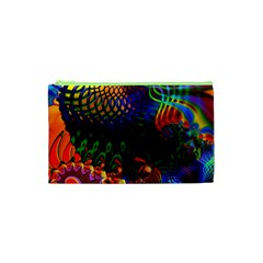 Colored Fractal Cosmetic Bag (xs)
