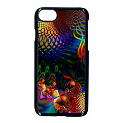 Colored Fractal Apple Iphone 7 Seamless Case (black)