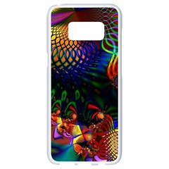 Colored Fractal Samsung Galaxy S8 White Seamless Case