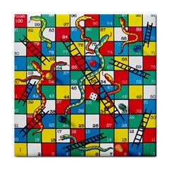 Snakes And Ladders Tile Coasters